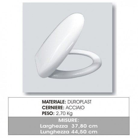 Copriwater Wc in Termoindurente per YESTERDAY Nero Ceramica bianco
